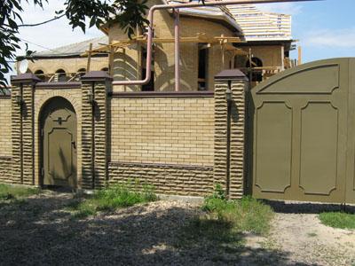 калитка и ворота с элементами